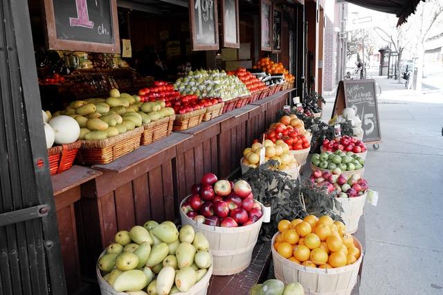 street market fruits grocery